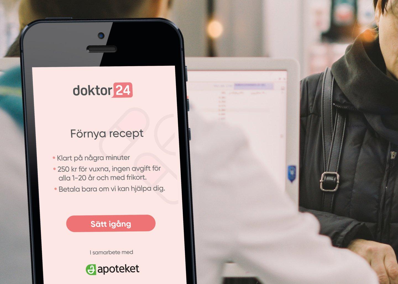 Förnya recept på Apoteket –Doktor24